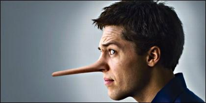 Mentira, engaño y falsedad.