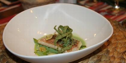 Uno de los espectaculares platos del ágape