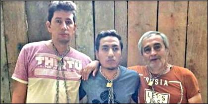 El periodista Javier Ortega, de 36 años; el fotógrafo Paúl Rivas, de 45, y el conductor Efraín Segarra, de 60.