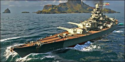 El acorazado alemán Tirpitz.