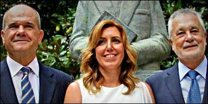 Chaves, Susana Díaz y Griñán (PSOE).