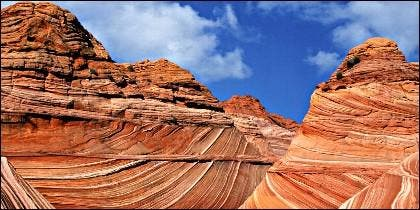 Erosión en las montañas del Gran Cañón del Colorado.