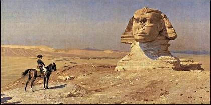 Napoleón contemplando la Gran Esfinge.