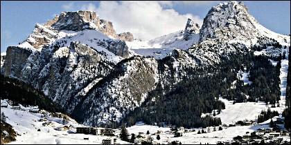 Cervinia, resort de esquí en el Valle d'Aosta (ITALIA).