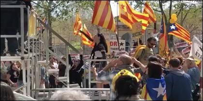 Agresión a periodistas en Barcelona