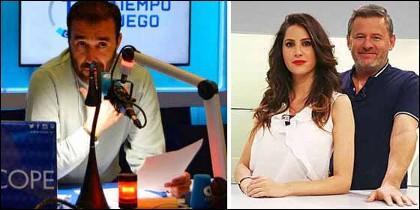 Juanma Castaño y los presentadores de 90 Minuti.