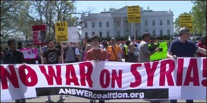 No a la guerra en Siria