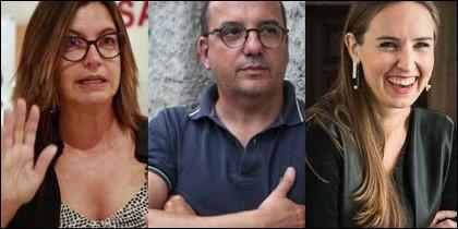 Ángels Barceló, Carles Campuzano y Melisa Rodríguez.