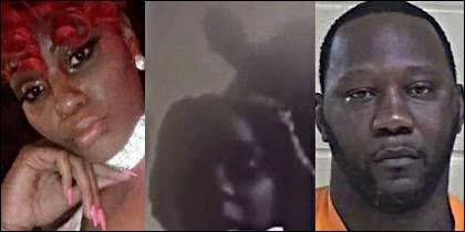 Rannita Williams y su novio, el asesino Johnathan Robinson.