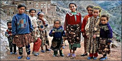Niños en Marruecos.
