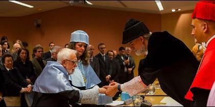 Comillas entrega el Doctorado Honoris Causa a John L. Esposito y a Bartomeu Meliá, sj