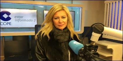 Diana López-Pinel durante su entrevista en la COPE
