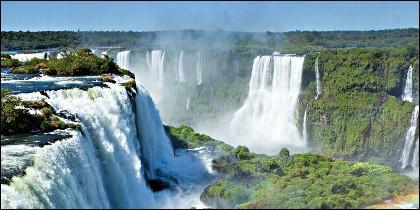 La cataratas de Iguazú.