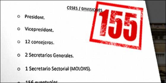 Resultado de imagen de Lista y sueldazos de los altos cargos cesados por el 155