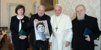 El Papa, con los responsables del Camino