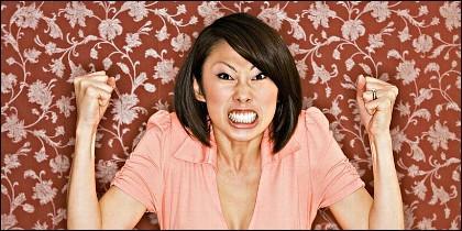 Una mujer china furiosa de verdad.