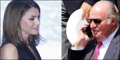 Don Juan Carlos y doña Letizia