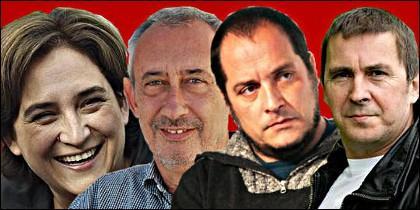 Ada Colau con Otegi y otros proetarras.