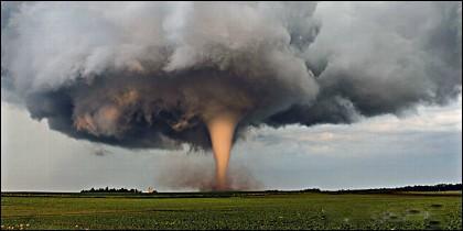 Un tornado.