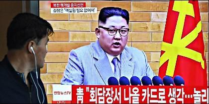 Kim Jong-un en la televisión de Corea del Norte.