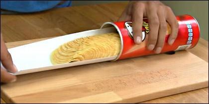 Las Pringles no son patatas fritas.