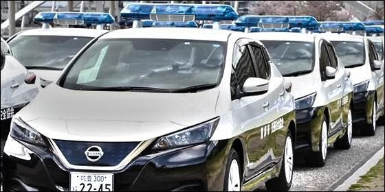 El Nissan Leaf es el coche elegido por la Policía de Japón