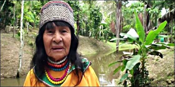 La chamán indigena Olivia Arévalo Lomas.