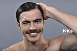 El ideal de belleza masculino a principios del Siglo XX.