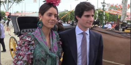 El Duque de Huéscar y Sofía Palazuelo en la Feria