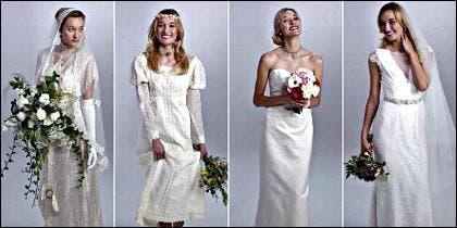 El traje de novia a través de los años.