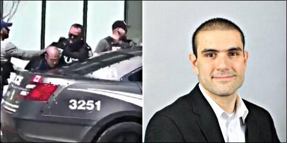 Detencion del terrorista Alek Minassian el autor del atropello en Toronto.