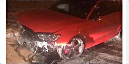 El Audi RS3 estrellado.