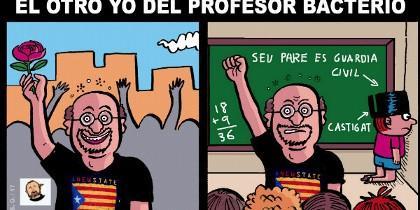 Caricatura de Santi Orué.