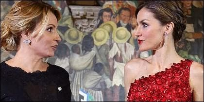 Letizia y la primera dama de México