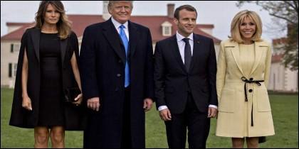 Melania Trump y Brigitte Macron