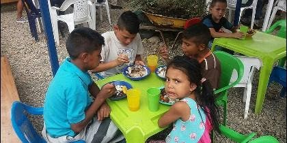 Niños venezolanos en Cúcuta
