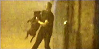 La novia china pasea a su novio como si fuera un perro.