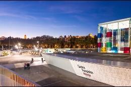 Exterior del Museo Pompidou en Málaga