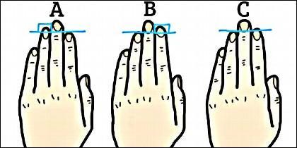 Las manos, el tamaño de los dedos y la personalidad.