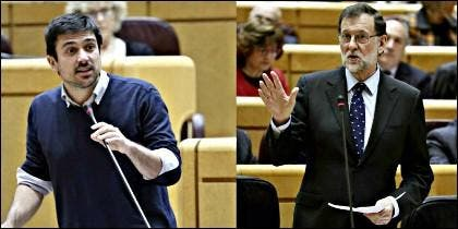 Ramón Espinar (PODEMOS) y Mariano Rajoy (PP).