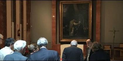 El lienzo, prestado durante un año por las Escuelas Pías a la pinacoteca