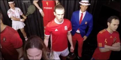 Gareth Bale hace broma a visitantes