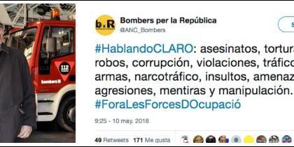 Juli Gendrau, el jefe de los bomberos de Cataluña y el insidioso tuit contra las Fuerzas y Cuerpos de Seguridad del Estado.