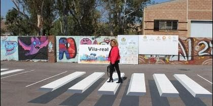 Paso de peatones 3D en Vila-Real (CASTELLON).