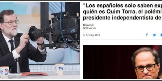 Los medios extranjeros le hacen el trabajo a los acoquinados de La Moncloa y hunden al nazi Torra