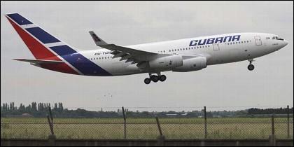 Un avión de Cubana de Aviación.
