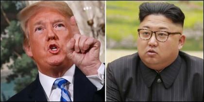 Donal Trump amenaza a Kim Jong-un.