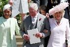 Doria Ragland, el príncipe Carlos y Camilla Parker