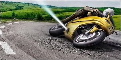 Hombre en una moto