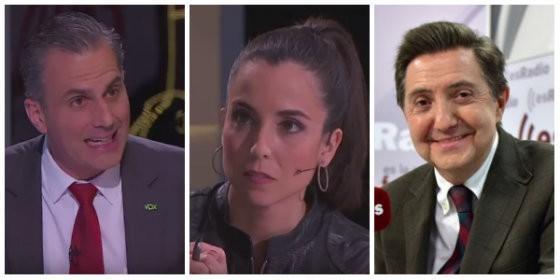 Javier Ortega, Laura Rosel y Federico Jiménez Losantos.